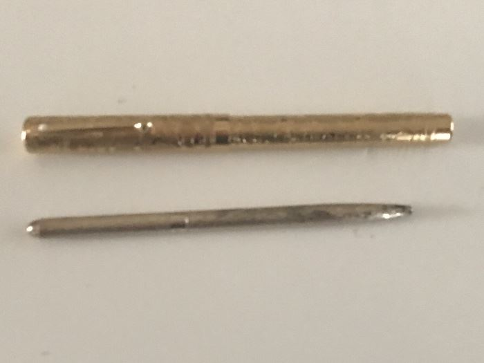 Schaefer commemorative fountain pen with 18 karat tip, sterling silver Tiffany Pencil