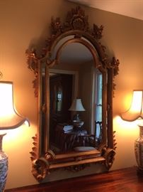 "Beautiful Wooden Golden Colored Mirror 50""x32"""