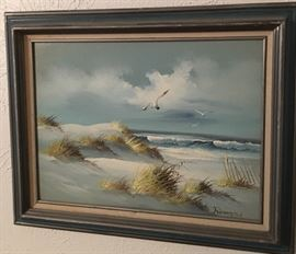 Beautiful Framed Signed Oil Painting by Remington.