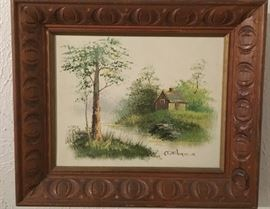 One Of Many Wonderful Framed Signed Canvas Oil Paintings