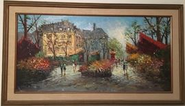 Incredible Framed Signed Canvas Oil Painting