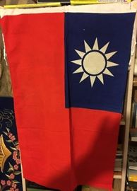 Authentic Cotton Republic of China Tiawan Flag 1930s In Excellent condition. Try to find one of these anywhere on the net.