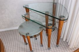 Modern nesting tables.