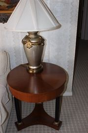 One of two matching table lamps.