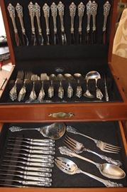 Wallace Baroque, 81 pieces of Sterling silver.