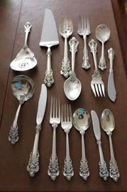 Some of the pieces of Sterling flatware.
