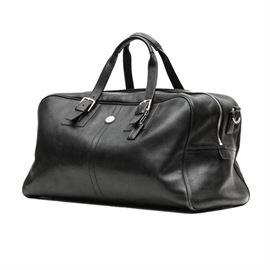 Coach Black Leather Voyage Cabin Bag