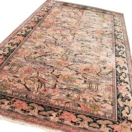 Vintage Room-Sized Anglo-Persian Wilton Rug by M..J. Whittall