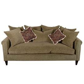 House of France Sage Green Velvet Sofa