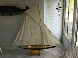 6 ft. model sailboat available $700 retail