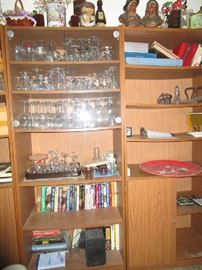 tons of glassware and collectibles