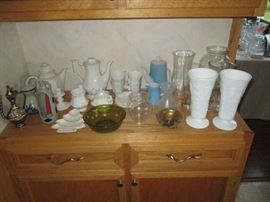 MILK GLASS AND GLASSWARE