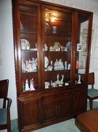 Lighted China cabinet-Haywood Wakefield