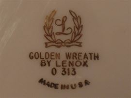 Golden Wreath dishes by Lenox