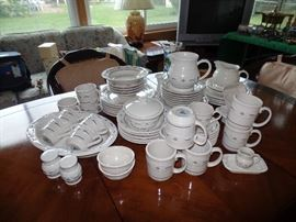 Set of Longaberger pottery dishes