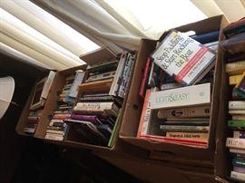 Plenty of books. At last count around 40+ boxes