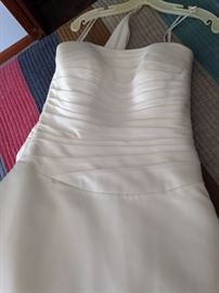 BUY IT NOW--brand new, never worn wedding gown--silk--size 8-10--was $1800 new--$900--email sophia.dubrul@gmail.com