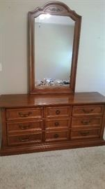 Stanley Dresser and matching chest of drawers