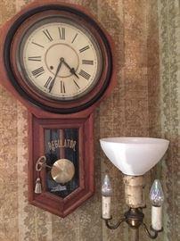 Wall Clock, floor lamp