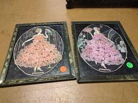 Vintage silk flower art