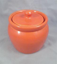 Bauer California Art Pottery Plain Ware Individual Lidded Bean Pot