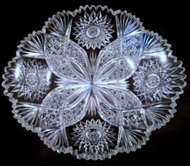 "T.B. Clark ""Desdemona"" American Brilliant Cut Glass Bowl (ABP)"