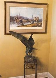 * ART: Audubon Prints, watercolors, etchings, oils and silk hangings as well; *CRYSTAL: Baccarat, Steuben, Waterford, Fostoria (American), Lenox;