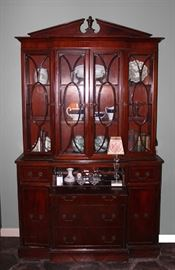 China Cabinet, Books, Ginger Jars, Biscuit Barrel, Bookends