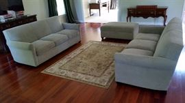 Crate & Barrel Sofas and Ottoman