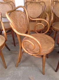 6 Antique Gebruder Thonet Bentwood Chairs