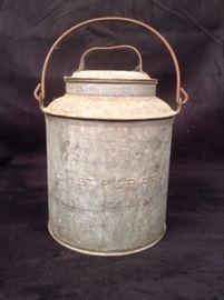 Vintage Milwaukee Railroad Galvanized Milk Bucket