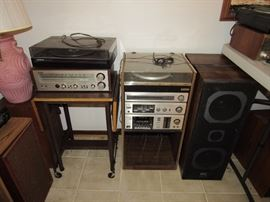 Electronics, Stereo components (receivers, turntables, speakers, cassette players, 8-track player and more)