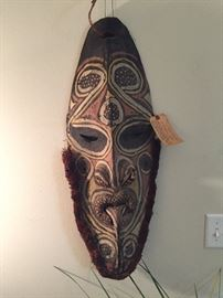 Antique African SingSing Hand Made Wooden Mask