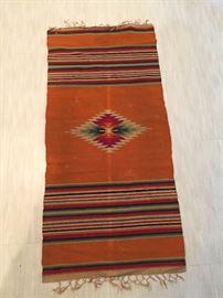 Vintage Chimayo Hand Made Native American Blanket