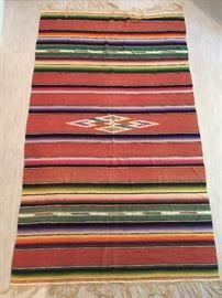 Antique Navajo Hand Made Native American Blanket