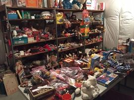 Tons of antique and vintage toys
