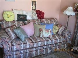 Floral Sofa, Decorative Pillows