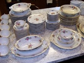 Haviland Limoges China Set - Chantilly Pattern              service for 12+ with Serving Pieces, Hutschenreuther Selb Bavaria China Set