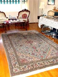 "One of SEVEN vintage Persian rugs ..                               this one in Rose, Pinks and Blues - Size 118"" x 72"""