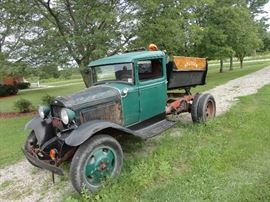 1931 -1-1/2 Ton AA truck with dump box, with rebuilt engine, clutch, king pins, break pads, 12 volt, sealed beams, new tires, turn signals.  Runs great. drive it home. Currently licenced and insured.