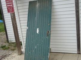 Vintage farm house door.