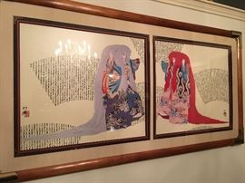 Otsuka 1980' s era. Double framed prints.