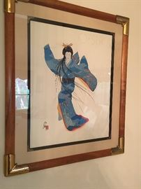 1982 otsuka  framed print. Fabulous   Finds for this kind of art.