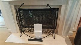 Heavy Iron Fireplace Screen
