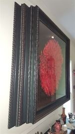 Custom framed African headdress