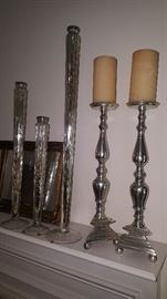 Mercury glass candlesticks