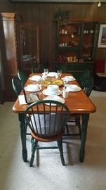 Dinette set and matching china cabinet