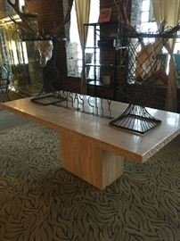 Travertine Marble table......discount price of $1800.00  (Price on 1stdibs $5900 to high of $18,000.00)