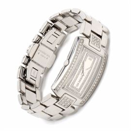 """Raymond Weil Shine Diamonds Stainless Steel Luxury Wristwatch: A Raymond Weil """"Shine Collection"""" diamonds and stainless steel Swiss made luxury wristwatch comprising 0.60 ctw in round briiliant cut and single cut diamonds. The watch does not come with box or papers."""