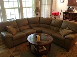 Sectional Sofa with Recliners on each Side - $ 500.00